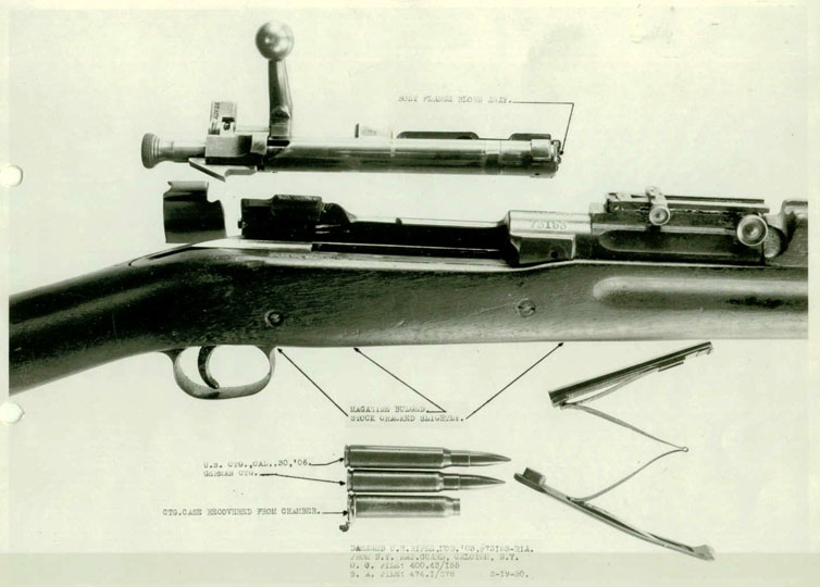 A damaged Springfield Model 1903